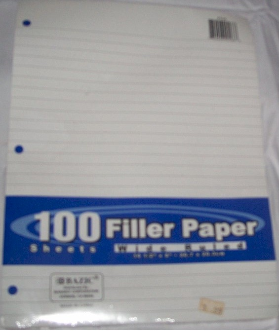 100 FILLER PAPER WIDE RULED
