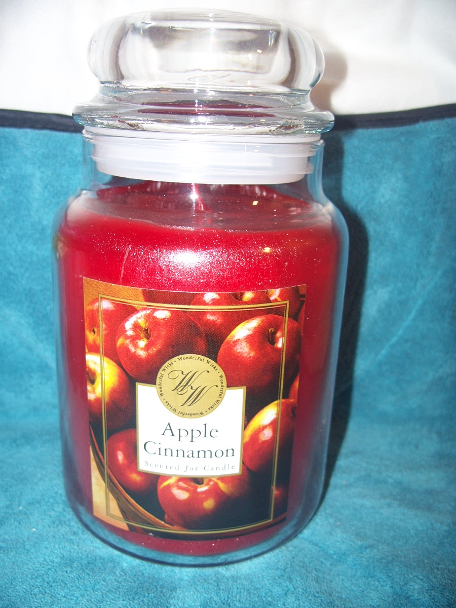 Wonderful Wicks Scented Jar Candle Apple Cinnamon