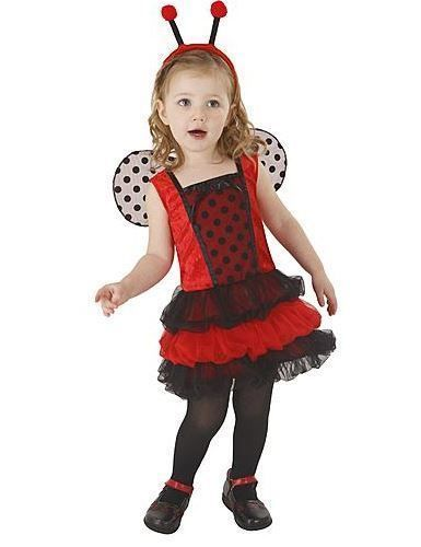 LADYBUG FAIRY TODDLER HALLOWEEN COSTUME 2-4 T