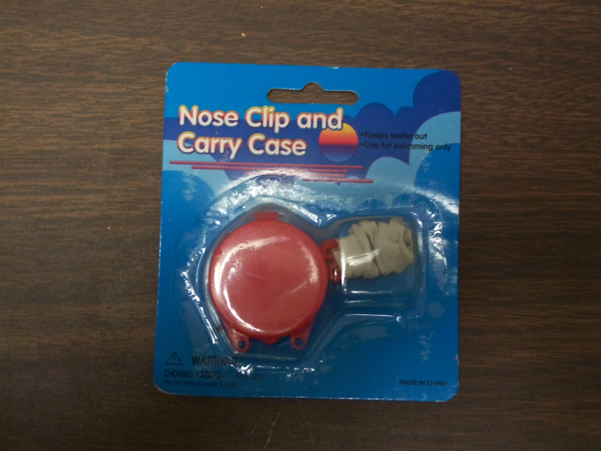 Nose Clip and Carry Case Red