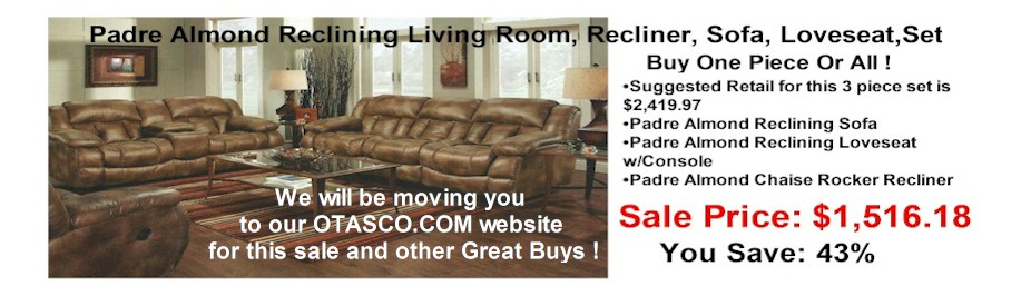 rsbslide3 - Padre Almond Reclining Living Room Sale !