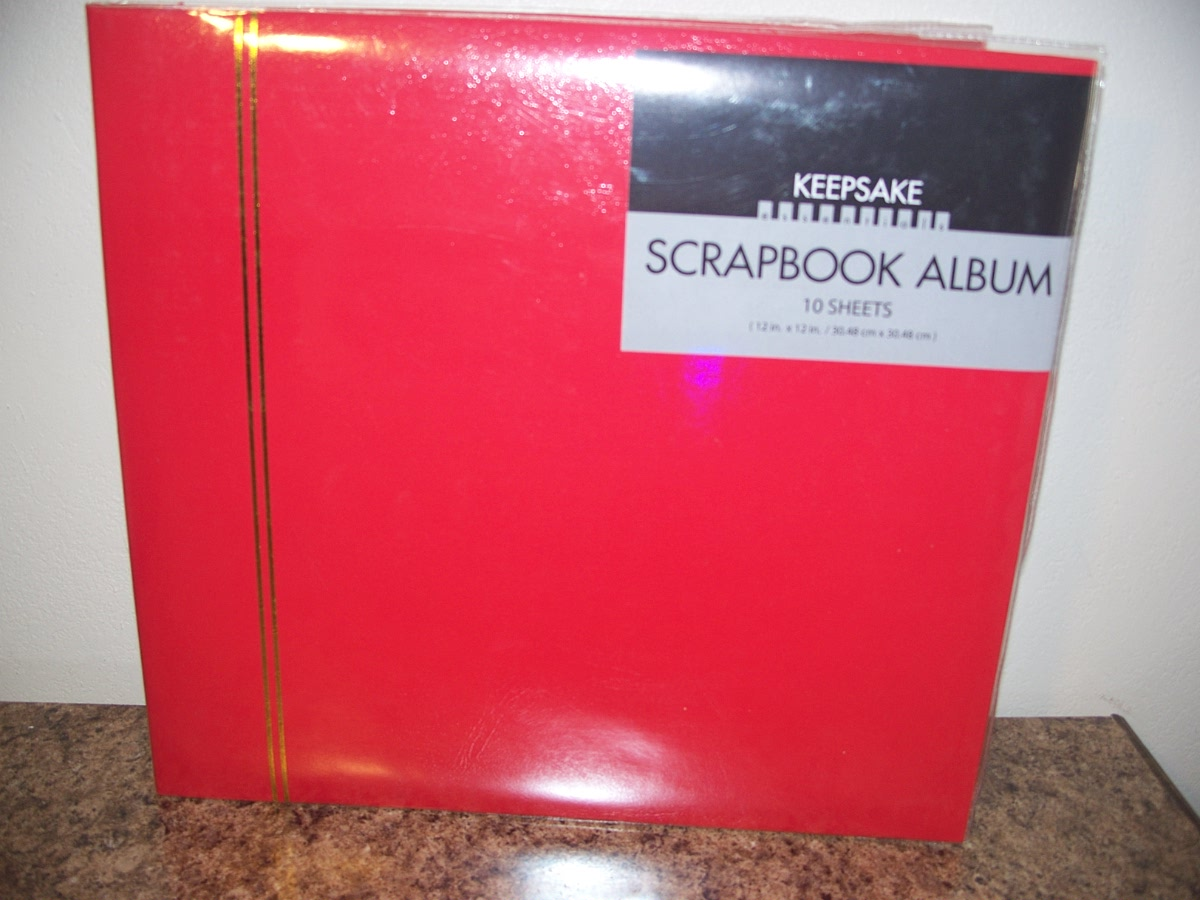 True Living Scrapbook Red